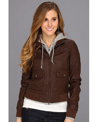 Dark Brown Bomber Jackets for Women | Women's Fashion