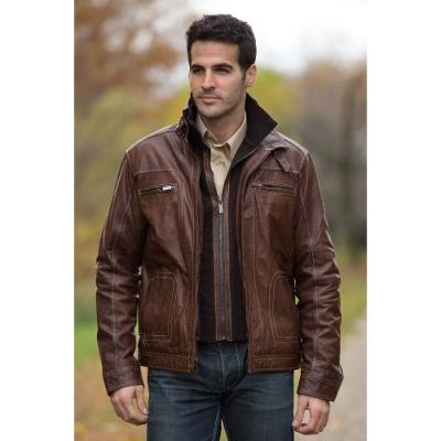 Brown Bomber Jacket - Coat Nj
