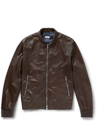 Brunello Cucinelli Perforated Leather Bomber Jacket