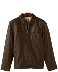 Reilly Olmes R And O Open Bottom Leather Bomber Jacket