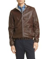 Eleventy Reversible Leather Bomber Jacket