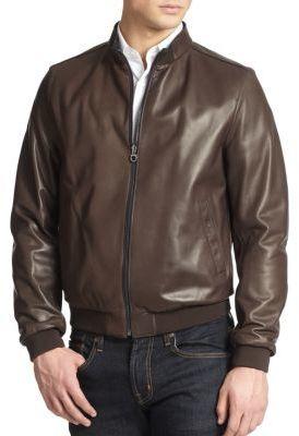 b42dca4a0 $3,270, Salvatore Ferragamo Reversible Leather Bomber Jacket