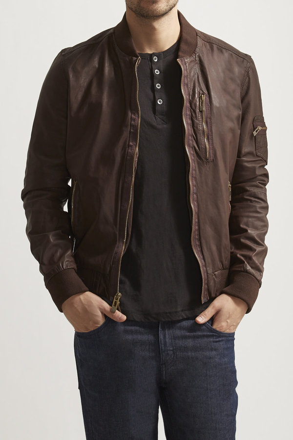 Rogue Leather Baseball Jacket | Where to buy & how to wear