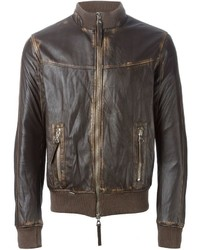 S.W.O.R.D. Sword Leather Zip Jacket