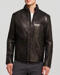 Cole Haan Smooth Lamb Moto Jacket