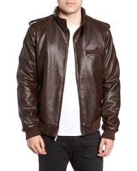 Members Only Vintage Faux Leather Racer Jacket