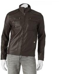 X-Ray Xray Faux Leather Slim Moto Jacket