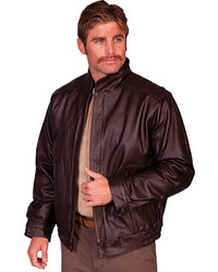 Scully Zip Front Leather Jacket 977 Long