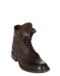 Calzoleria Toscana 30mm Washed Leather Lace Up Boots