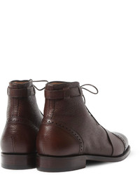 Foot the Coacher Grenson Sport Pebble Grain Leather Brogue Boots