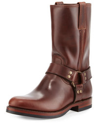 John addison leather harness boot dark brown medium 925588