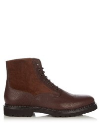 Brunello Cucinelli Leather And Suede Boots