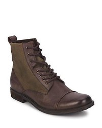Levis Maine Lace Up Dark Brown Mid Boots