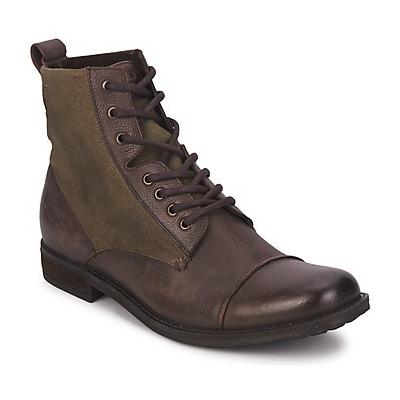 ... Levis Maine Lace Up Dark Brown Mid Boots