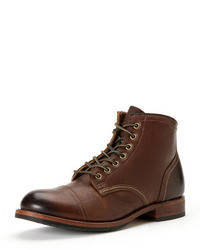 Frye Logan Captoe Boot Dark Brown