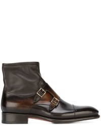Monk strap ankle boots medium 639837