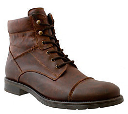 GBX Napa Leather Cap Toe Boot With Inside Zipper