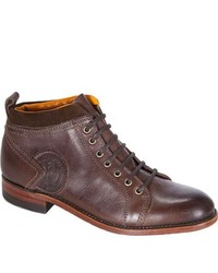Neil M Dundarg Rich Brown Full Grain Leather Boots