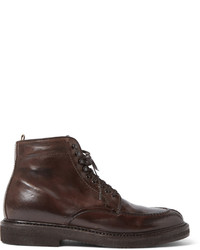 Officine Creative Stanford Distressed Leather Boots