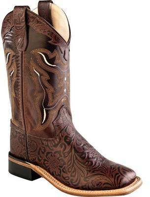 Old West 9 Inch Broad Square Toe Goodyear Welt Cowboy Boot