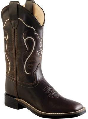 Old West Round Toe Fringe Western Cowboy Boot Child