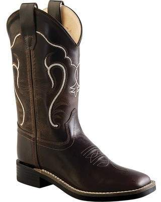 Old West Ultra Flex Broad Square Toe Boot Youth