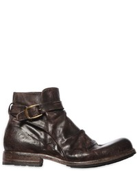 Shoto Vintage Effect Washed Leather Boots