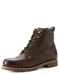 Frye Sully Lug Lace Up Boot Dark Brown