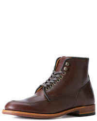 Frye Walter Lace Up Boot Dark Brown