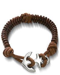 James Avery Jewelry Cinnamon Woven Leather Bracelet