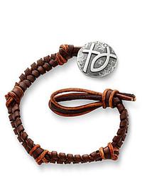 James Avery Jewelry Mocha Woven Leather Bracelet