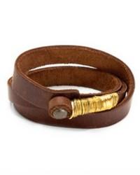 Jo Handbags Leather Wrap Bracelet