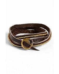 Me to We Artisans Tatu Beaded Leather Wrap Bracelet