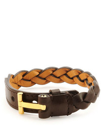 Nashville braided leather bracelet dark brown medium 748575