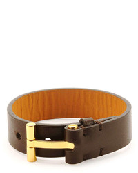 Tom Ford Nashville Leather Bracelet Brown