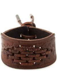 Saint Laurent Woven Detail Bracelet