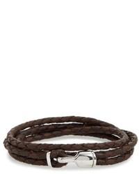 Miansai Trice Braided Leather Sterling Silver Bracelet