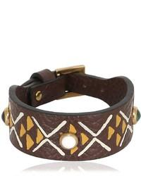 Valentino Primitive Circle Leather Bracelet