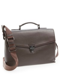 Hugo Boss Boss Absolute Smooth Leather Gusset Briefcase