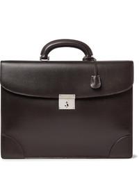 Valextra Cross Grain Leather Briefcase