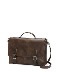 Frye Logan Leather Briefcase In Slate At Nordstrom