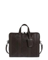 Bottega Veneta Perforated Calfskin Leather Briefcase