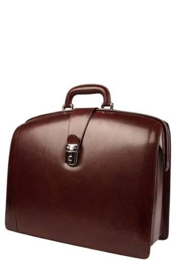 Bosca Triple Compartt Leather Briefcase