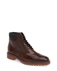 J & M 1850 Karnes Brogue Cap Toe Boot