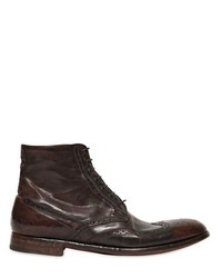 Alberto Fasciani English Brogue Hand Washed Leather Boots