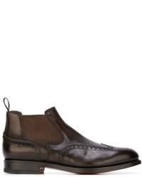 Santoni Brogue Boots
