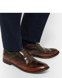 Anatomia Burnished-leather Derby Boots - Dark brownOfficine Creative imq9log