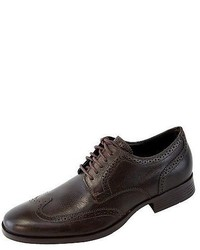 Cole Haan Copley Wing Tip Derbyoxford Chestnut Brown Leather Brogue Shoes