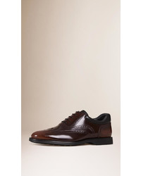 Burberry Cushion Detail Leather Wingtip Brogues