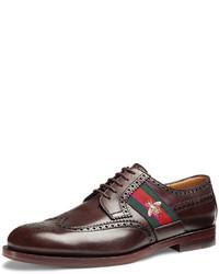 cbc447e14 Men's Dark Brown Leather Brogues by Gucci | Men's Fashion ...